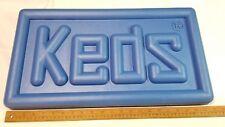 "Vintage KEDS Sneakers Advertising Dispay Sign Blue 22"" x 12"""