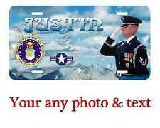 Personalized US Air Force License Plate Car Tag  Custom any text or Name.