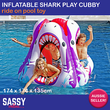 Inflatable Pool Toy Shark Cubby Cube Kids Childrens Water Swimming Pool Floatie