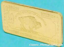BRASS Buffalo Bar 10 Oz .999 PURE Brass Investment BULLION Bar TEN Troy Ounces