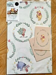 Disney Winnie the Pooh Wrapping Paper (Inc 2 Sheet & 2 Tags)
