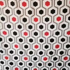 red and black hexagon shower curtain