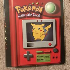 Pokemon 3-Ring Card Binder Pikachu Meowth Including Free Binder Pages..New