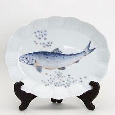 A. Giraud / Limoges, Fischdekor , Forellenteller / Platte / Teller