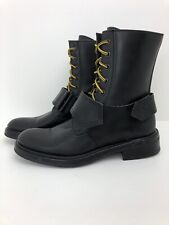 C'N'C Costume National Womens Leather Biker Boots Size 37