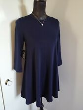 Vestido corto AX Azul Marino Jersey de manga larga talla 8/10 BNWT