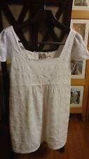 $168 Designer SALE Juicy Couture White Scallop Lace Dress/Tunic/Top, Size M