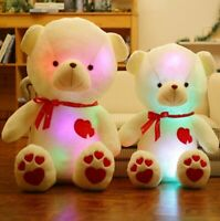 Small & Large Teddy Bear Soft Cuddly Glow Light up Colour Changing