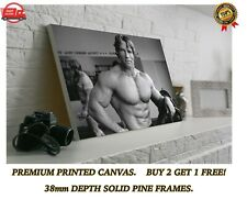 More details for arnold schwarzenegger muscles gym large canvas art print gift a0 a1 a2 a3 a4
