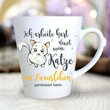 TK172 Wandtattoo-Loft Tasse à Café Céramique Conique Chats Luxusleben Animal