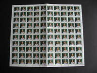 CANADA Sc 1360 full sheet U of 100, has been folded along middle perforations