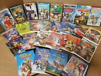 Lot of 10 DVD Cartoon Family Children Classic Animated Kids Disney Movie RANDOM