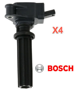 4 Ignition Coils BOSCH 2.0L 2.3L 4 Cyl. for FORD Lincoln Replace OEM # DG562
