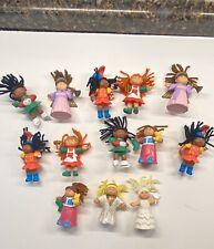 1980's Vintage Cabbage Patch Kids 13 Mini Figure Dolls McDonald's Lot! Christmas