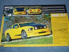 "2005 Mustang Steeda Q Info Article ""The Hot New Mustang Gets Even Hotter"""