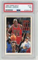 1993-94 Topps Gold All Star #101 Michael Jordan BULLS PSA 7 NM Near Mint