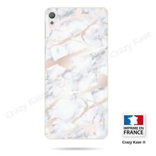Case for sony xperia e5 pink marble effect flexible