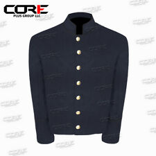 Us Civil War Navy Blue Wool Shell Jacket With Black Piping Trim All Sizes