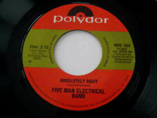 FIVE MAN ELECTRICAL BAND: Absolutely Right / Signs - 45 POLYDOR 504 EX+