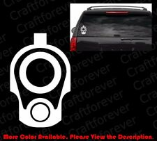 AK47 Oval Vinyl Decal//Sticker Gun Rights//3/% Percent 2A AK-47 Bumper 7.62 FA100