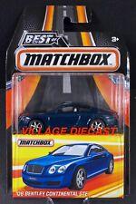 2017 Matchbox Best of '06 Bentley Continental Gt Dark Sapphire (Blue) / Moc