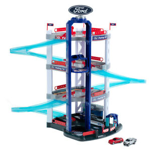 Ford 4 Level Parking Garage w/Cars/Lift/Ramp Track Pretend Play Set Kids Toy 3y+