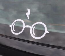 Harry Potter Glasses Deathly Hallows Hogwarts Decal Sticker Bumper Window Wall