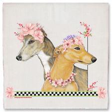 Greyhound Dog Floral Kitchen Dish Towel Pet Gift