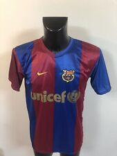Maillot Foot Ancien Barcelone Numero 19 Messi Taille S