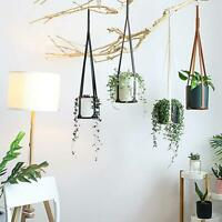 Leather Plant Hanger Hanging Planter Flowerpot Holder for Indoor Plants Cac