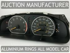 Toyota Camry V10 1992-1996 Polished Aluminium Chrome Gauge Trim Rings 2pcs