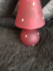 Red Glass Tealight Lamp