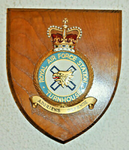 Royal Air Force Station Turnhouse mess wall plaque shield RAF