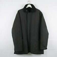 Vintage BARBOUR Black Quilted Jacket Size Mens XL XLarge /R41045