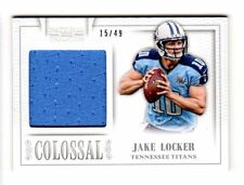 JAKE LOCKER NFL 2013 PANINI NATIONAL TREASURES COLOSSAL MATERIALS #/49 (TITANS)