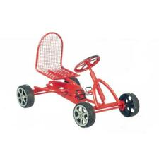 More details for dolls house red pedal car miniature traditional childs toy shop garden accessory