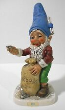 Goebel Co-Boy Gnome Figurine Utz The Banker With Sack of Coins W Germany 1970