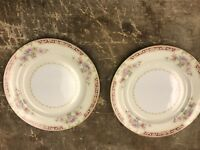 Noritake China 7.5 Inch Plates Made In Occupied Japan Lot Of 2
