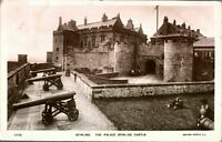 Antique RPPC photograph postcard Stirling The Palace Stirling Castle cannons