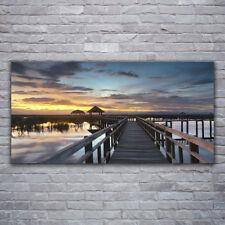 Tulup Wandbilder Glasbilder Dekobild 120x60 Brücke Architektur