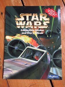 STAR WARS - 100% COMPLETE RARE SKYBOX / PANINI 1996 STICKER SET AND ALBUM