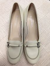 Nice Etienne Aigner Women's 10M Manmade Leather Shoes Pumps Off-white Ecru Beige