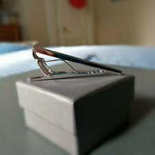 TATEOSSIAN 45 CM Rhodium Rectangular Tie Clip - Silver, Tie BarTC0160