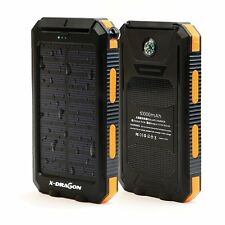 Solar Power Bank, X-DRAGON Solar Charger 10000mAh Solar Power Bank with Compass