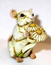 Harmony Kingdom Art Neil Eyre Designs Mouse mice white daisy flowers bouquet