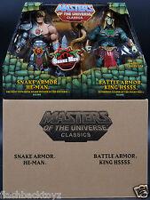 2015 MOTU Snake Armor He-Man Battle Armor King Hssss MOTUC Classics 2 Pack