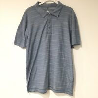 Helix Mens Henley Tee Shirt Size Large Gray Grey Distressed Short Sleeve Summer