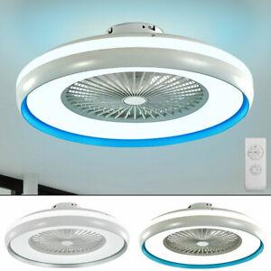 LED Decken Ventilator Leuchte Fernbedienung Tageslicht Lampe Timer Kühler Lüfter