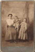 CAB photo Feine Dame mit kleinen Kindern - 1900er