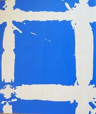 Simon HANTAÏ (1922-2008) Sérigraphie Tabula bleue 1985 / Silkscreen Blue Tabula